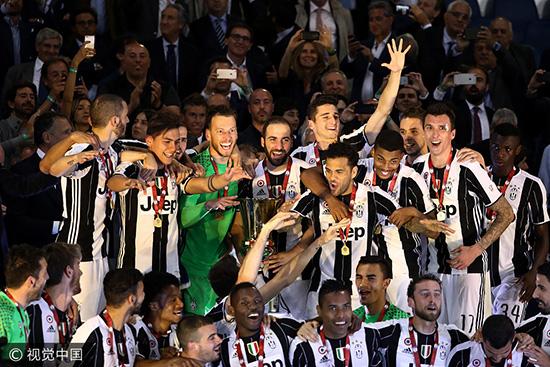 尤文2-0拉齐奥 取意大利杯3连冠
